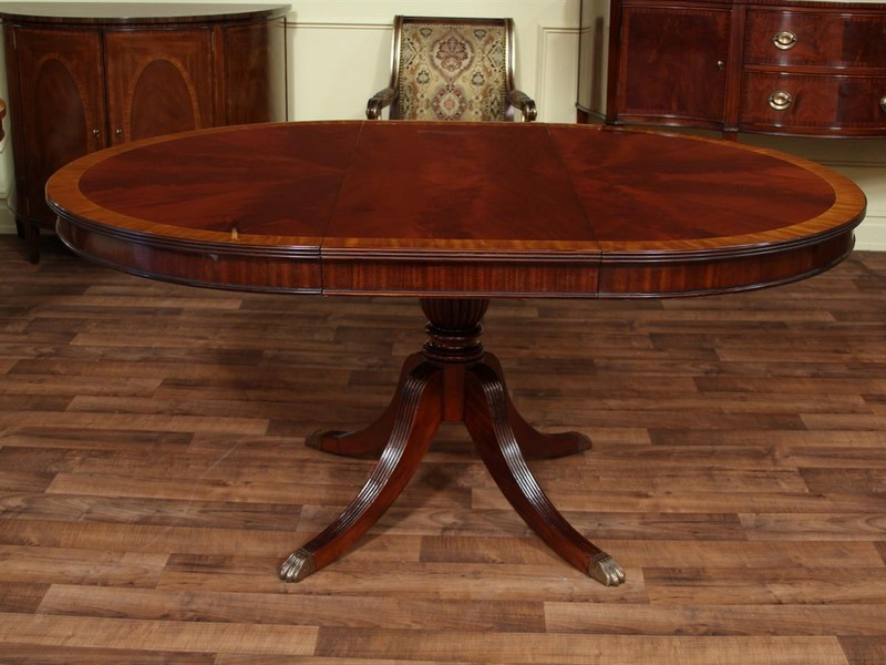 Oval Dining Room Tables With A Leaf
