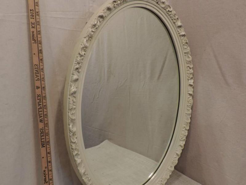 Oval Mirror Bathroom Cabinet