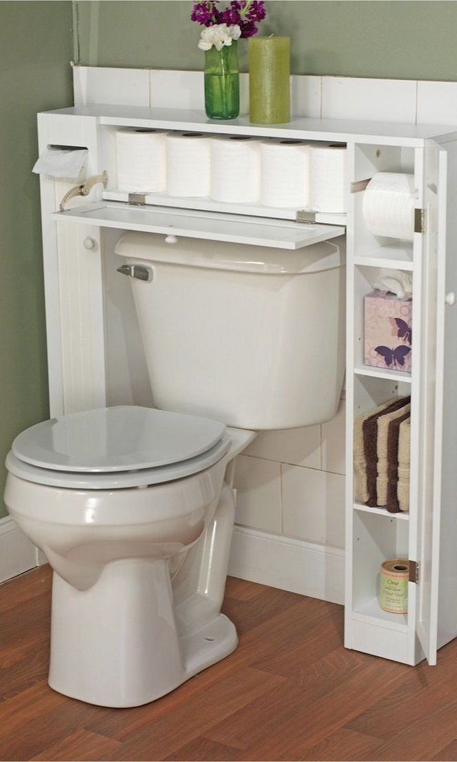 Over The Toilet Etagere White