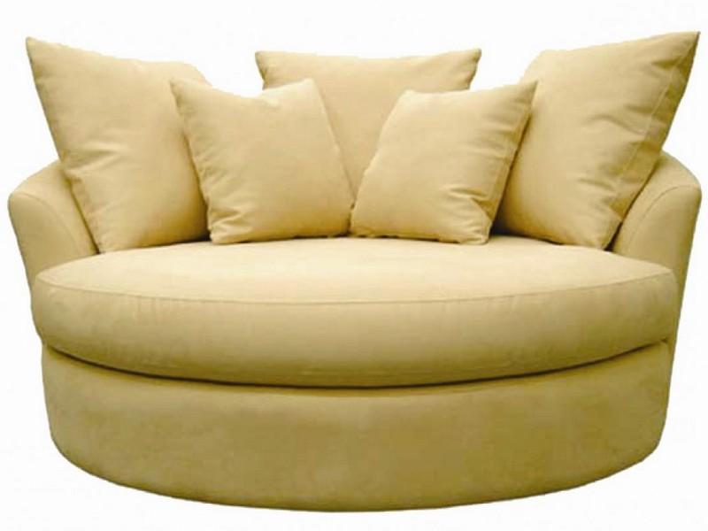 Oversized Round Swivel Chair