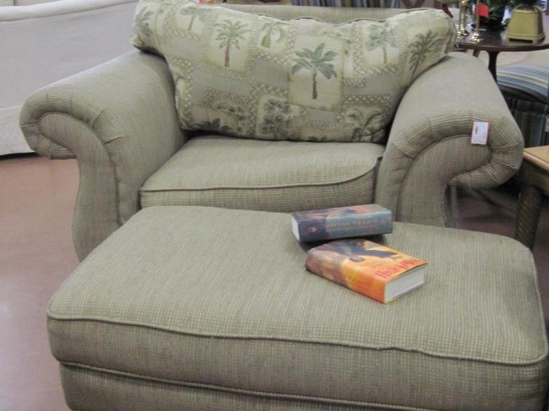 Overstuffed Chair And Ottoman Slipcovers
