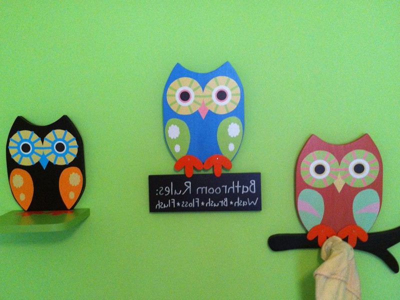 Owl Bathroom Wall Decor