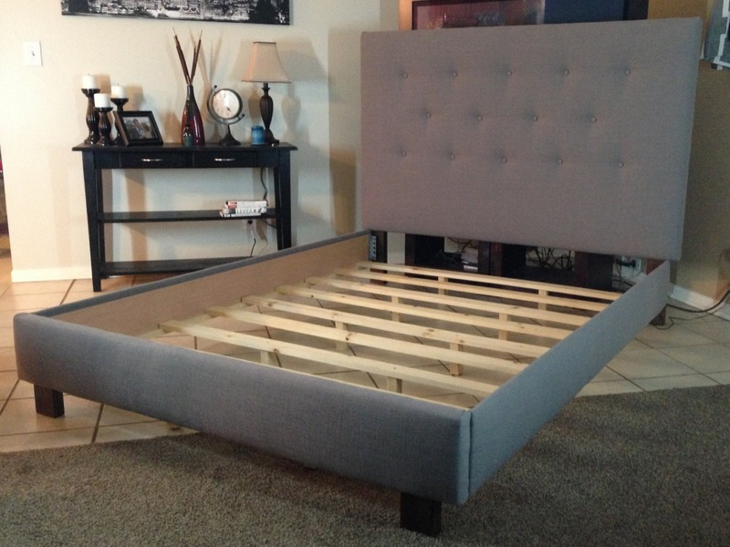 Padded Headboard King Bed