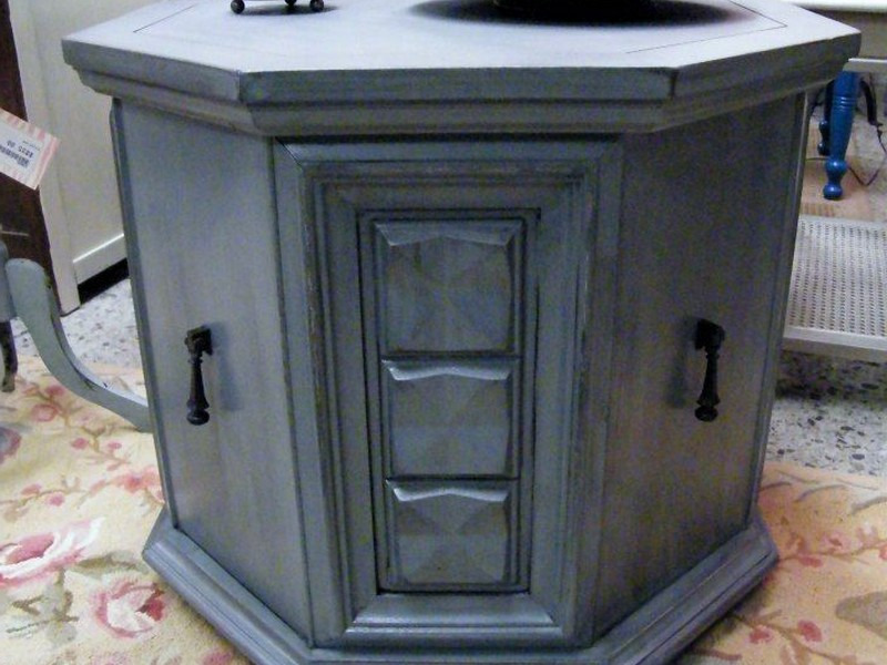 Painted Octagon End Table