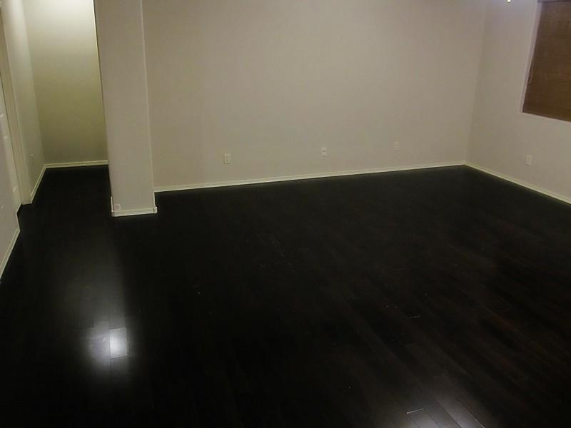 Painting Hardwood Floors Black