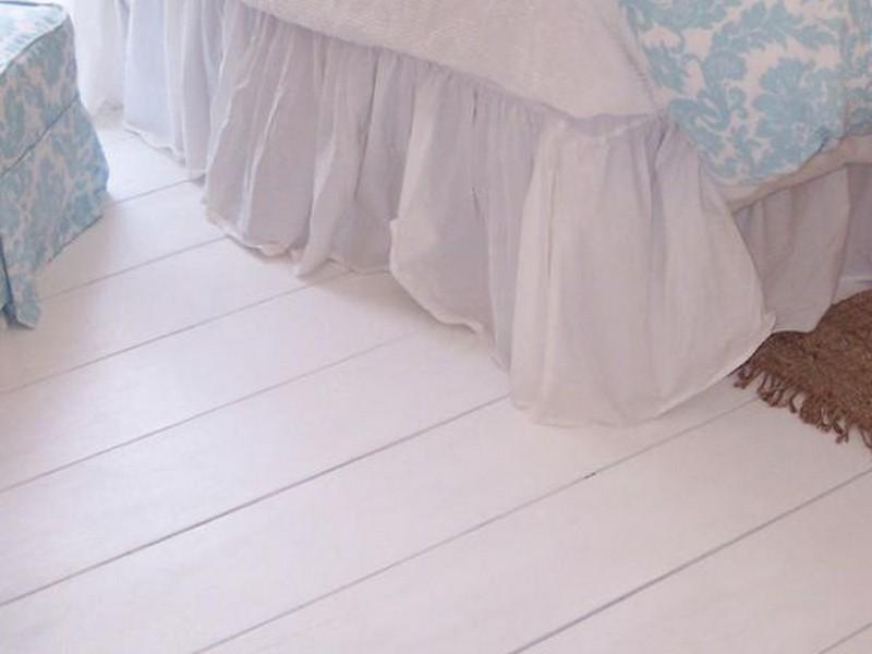 Painting Hardwood Floors White
