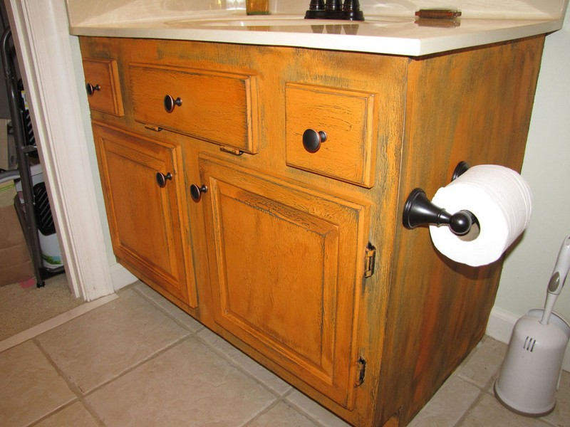 Painting Oak Bathroom Cabinets