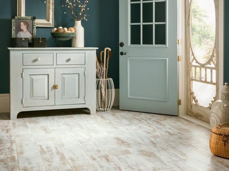 Painting Old Hardwood Floors White