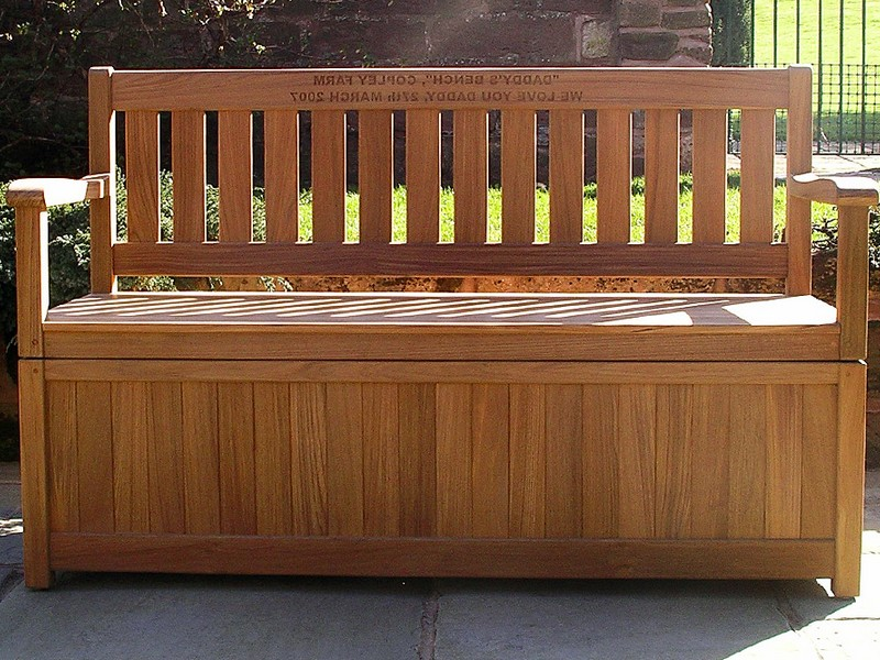 Patio Bench With Storage Plans