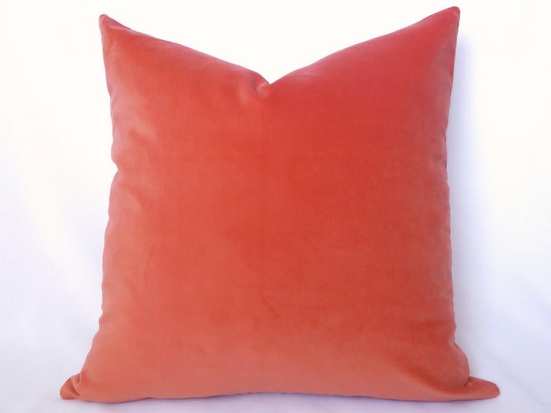 Peach And Brown Throw Pillows