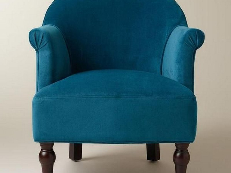 Peacock Blue Chair