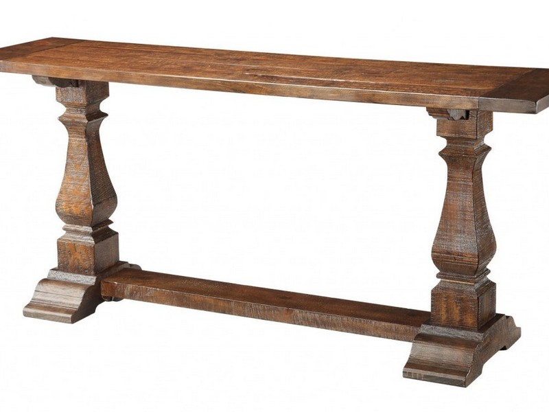 Pedestal Console Table