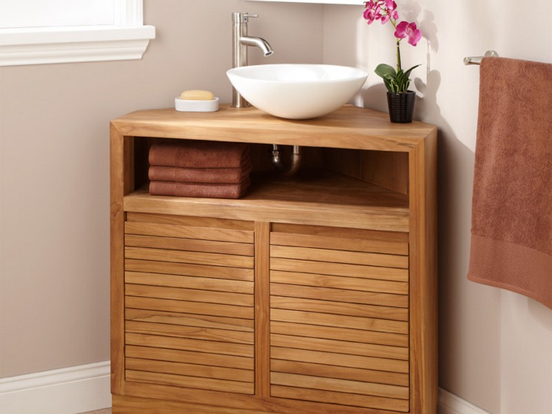 Pictures Of Corner Bathroom Vanities
