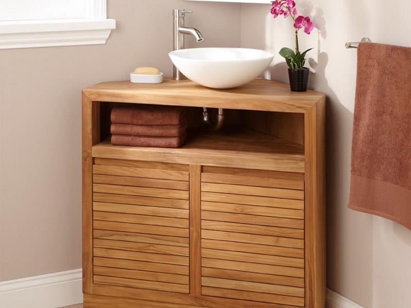 Pictures Of Corner Bathroom Vanities