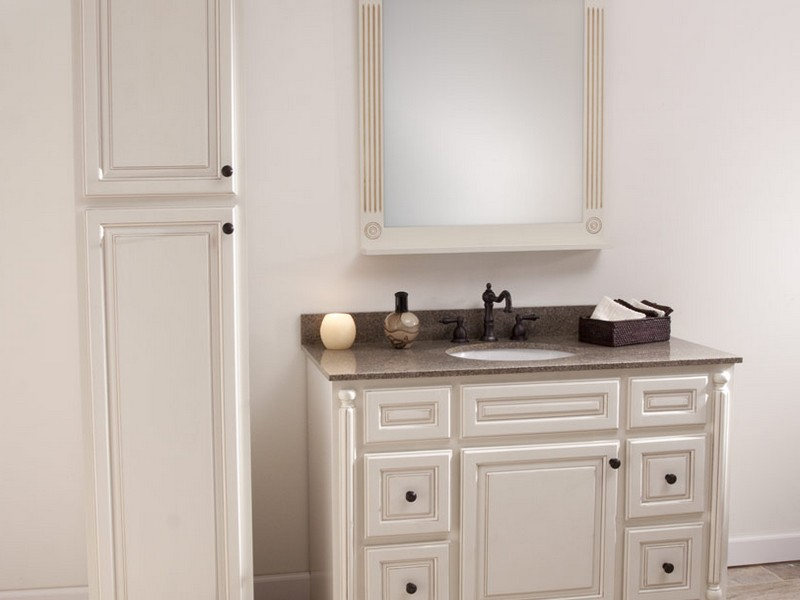 Pictures Of White Bathroom Vanities