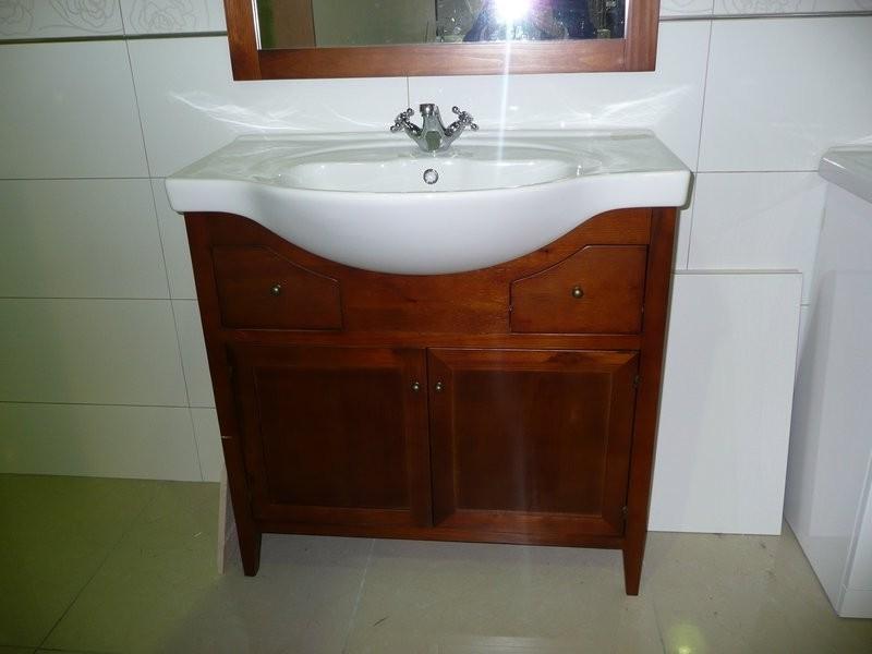 Pine Bathroom Vanity Unit