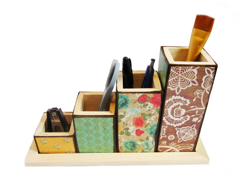 Pink Desk Organizer Set