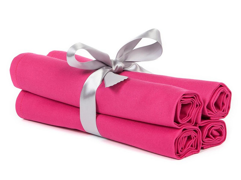 Pink Linen Napkins