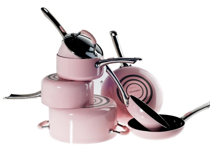 Pink Pots And Pan Set