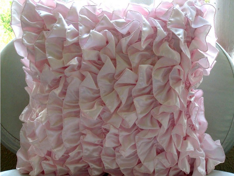 Pink Ruffle Pillow Shams