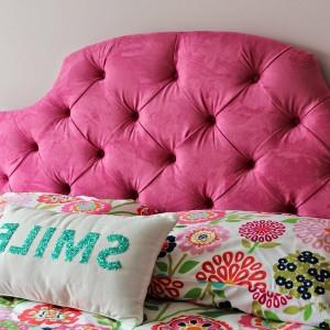 Pink Tufted Headboard Queen