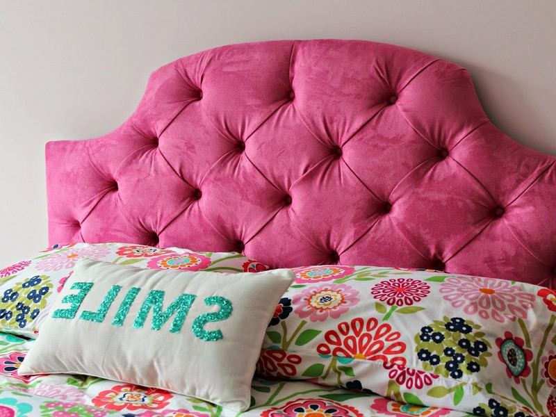 Pink Tufted Headboard Queen