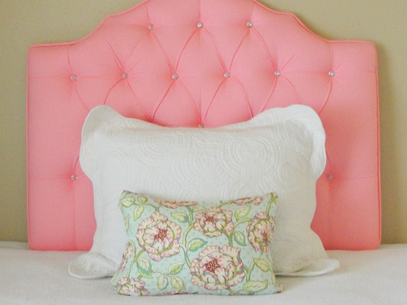 Pink Tufted Headboard Twin