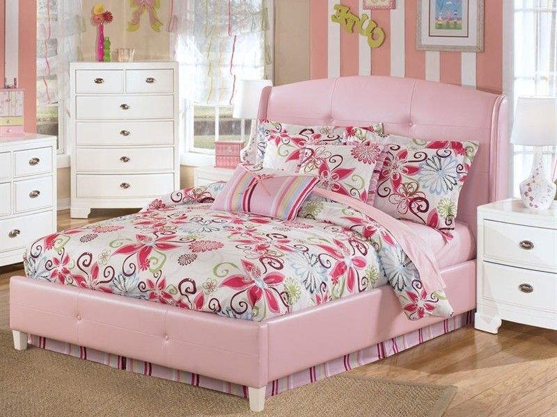 Pink Upholstered Bed Frame