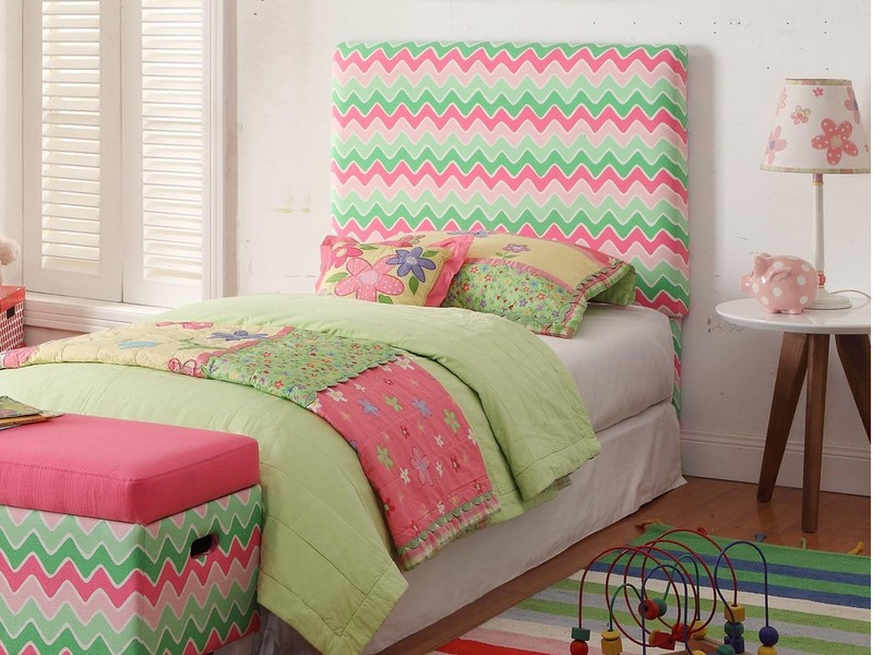 Pink Upholstered Headboard Twin