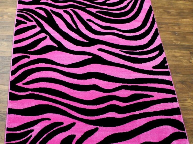 Pink Zebra Print Rug