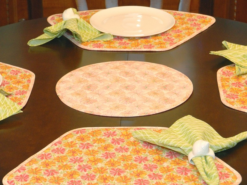 Placemats For Round Tables Wedge