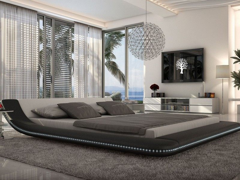 Platform Bed With Led Lights