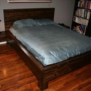 Platform Bed With Sunken Mattress