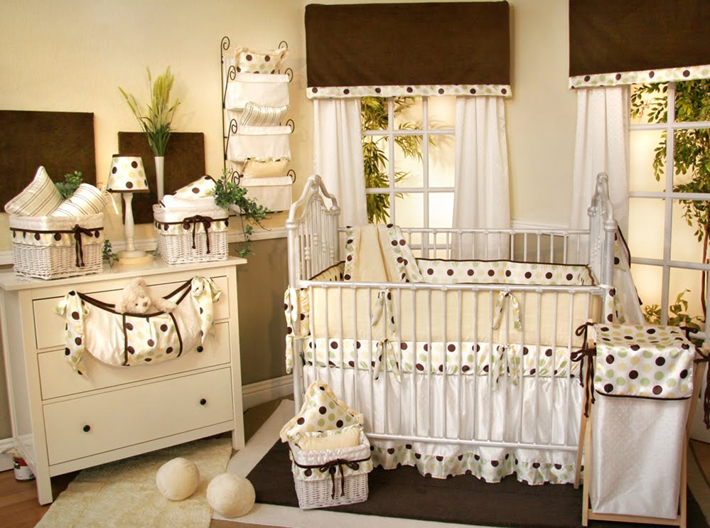 Polka Dot Baby Bedding Crib Sets