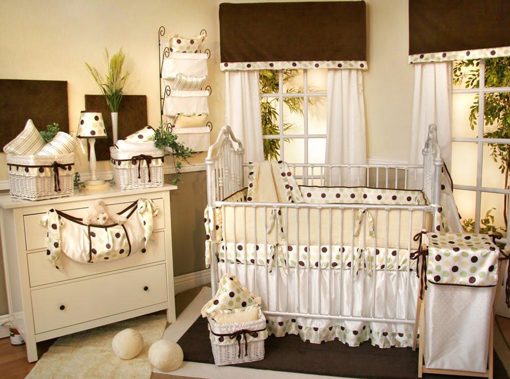 Polka Dot Baby Bedding Crib Sets