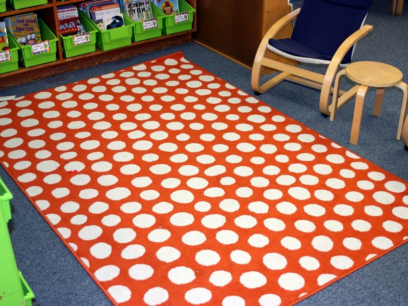 Polka Dot Rugs For Classroom