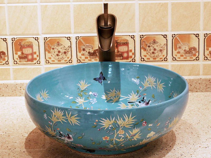 Porcelain Bathroom Sink Bowls