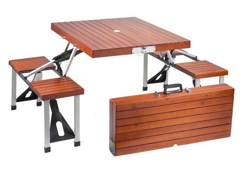 Portable Picnic Table Set Natural