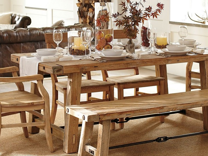 Pottery Barn Benches Dining