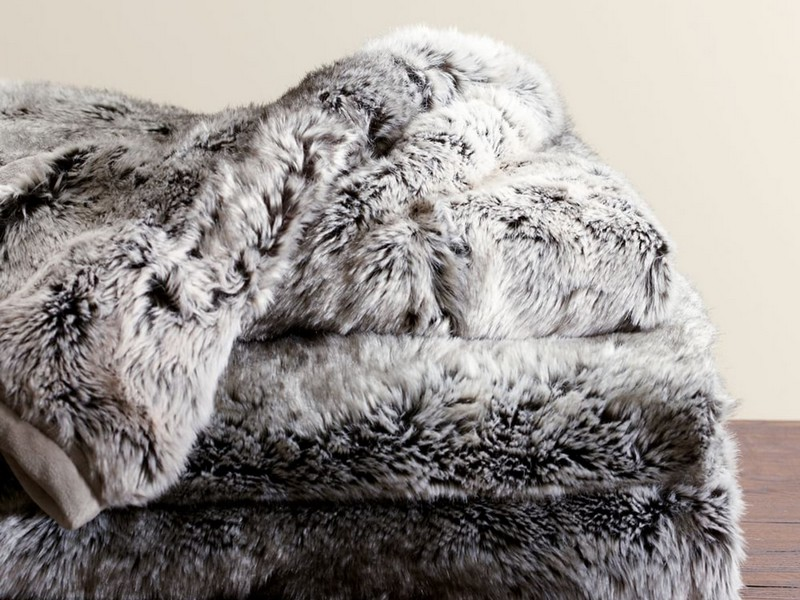 Pottery Barn Faux Fur Throws
