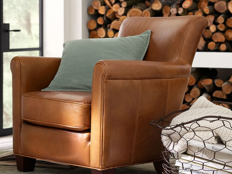 Pottery Barn Irving Leather Chair