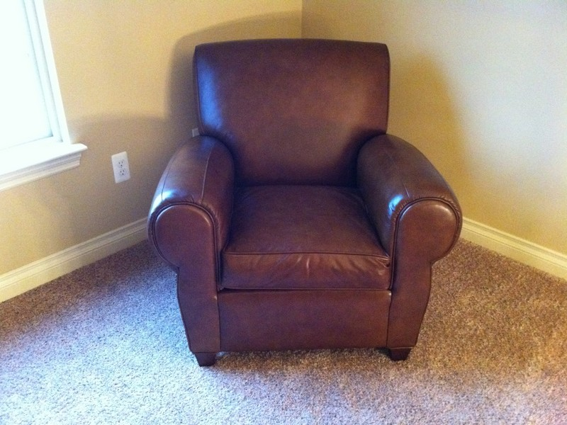 Pottery Barn Leather Chair Used