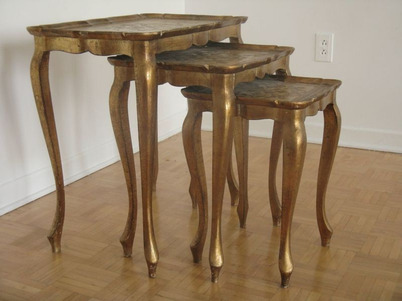 Pottery Barn Nesting Tables Wood