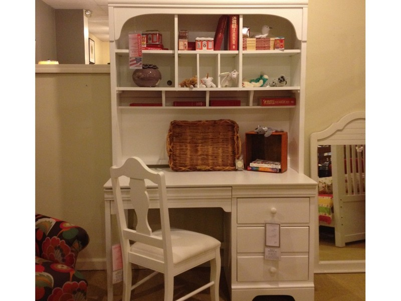 Pottery Barn White Desk With Hutch