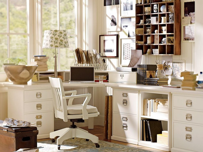 Pottery Barn White Desk