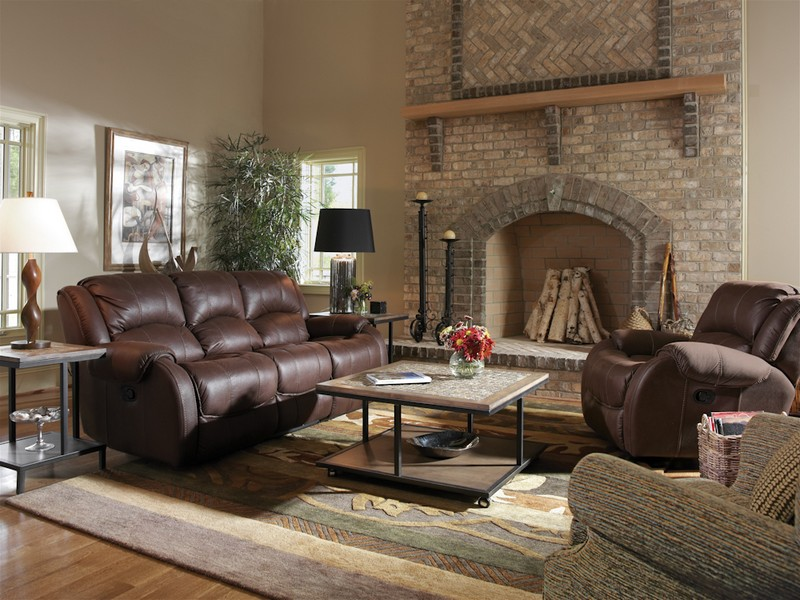 Power Reclining Loveseat Microfiber