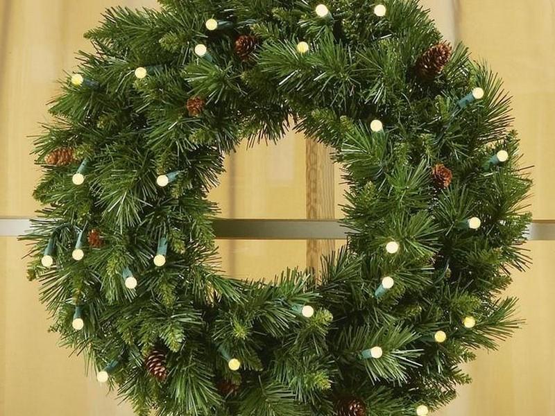 Pre Lit Wreaths Cordless
