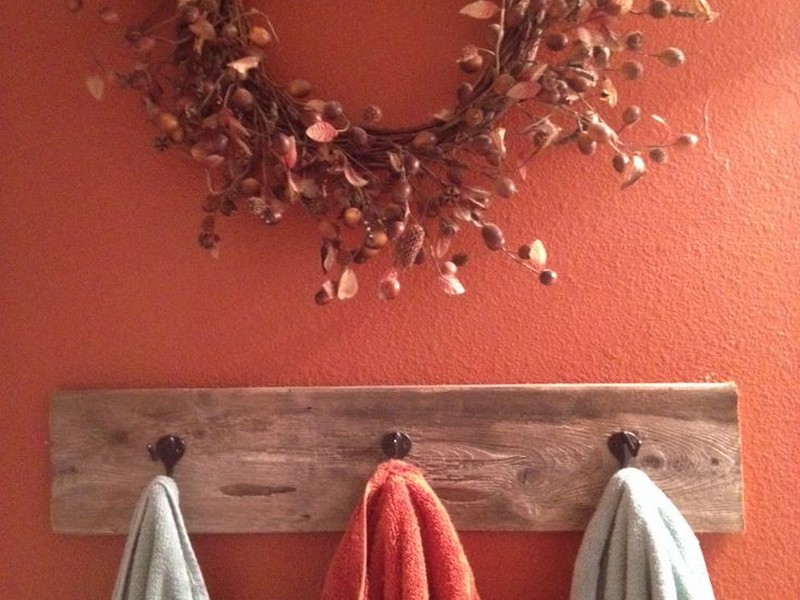 Primitive Bathroom Towel Holders