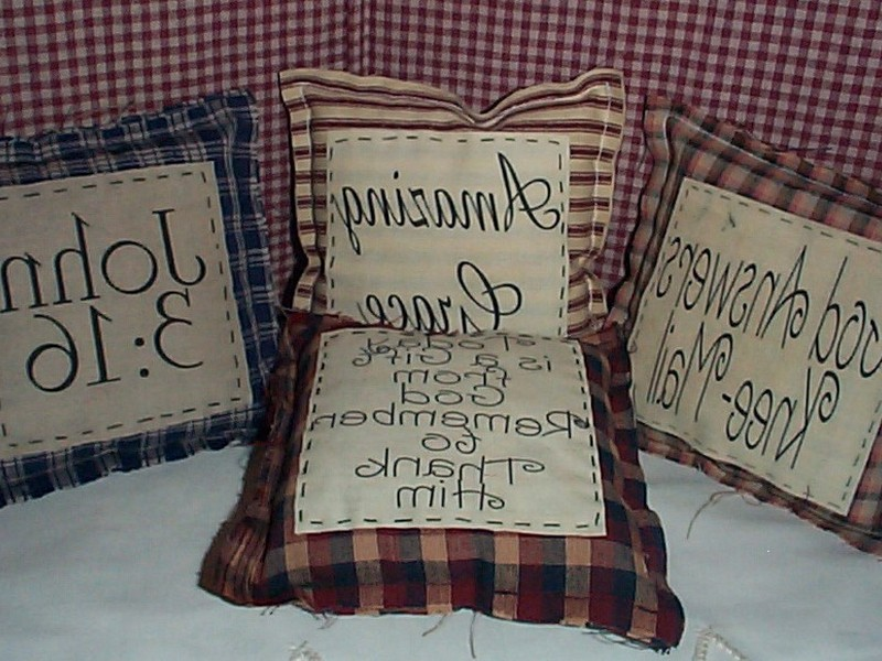 Primitive Pillows With Sayings
