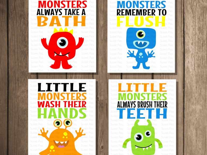 Printable Bathroom Signs For Kids